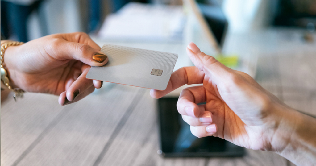 Accepting a credit card